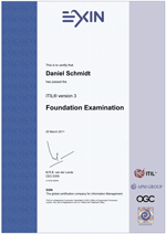 ITILv3 Foundation Certificate